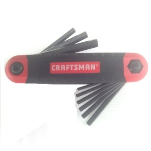 Craftsman Folding SAE Hex Key Set
