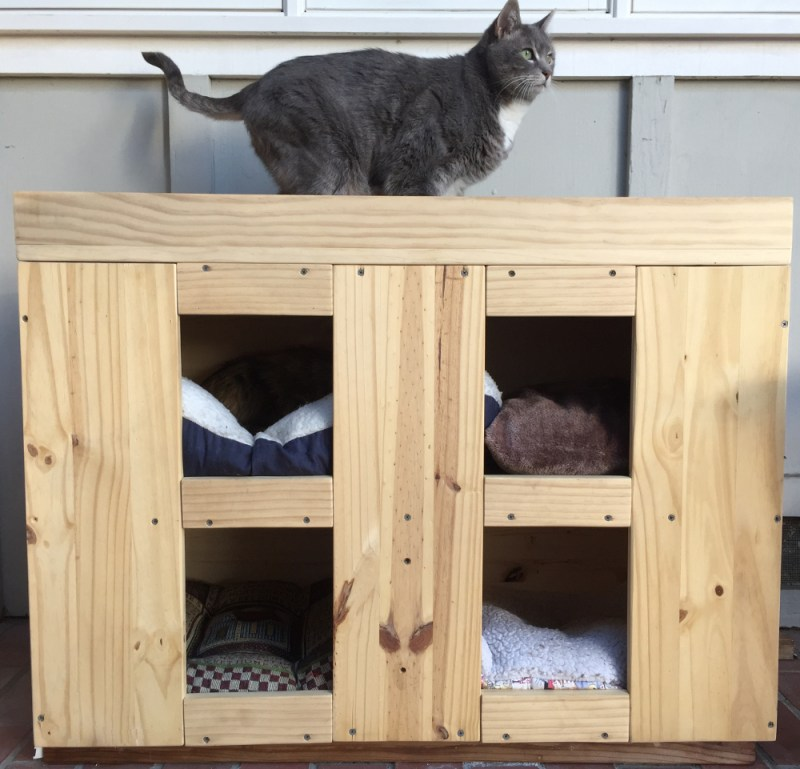 Cat House Hotel Final Made from Wood Pine