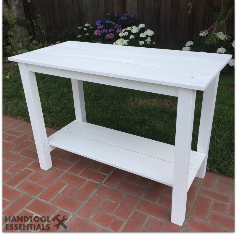 Wood Adirondack Table White Outdoor Furniture Woodworking