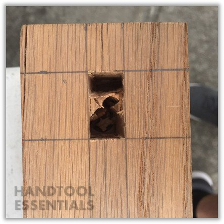 Chisel Mortise Holes
