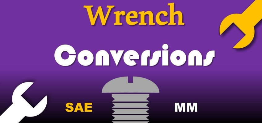 Wrench Socket Conversions Chart SAE Metric Spanner