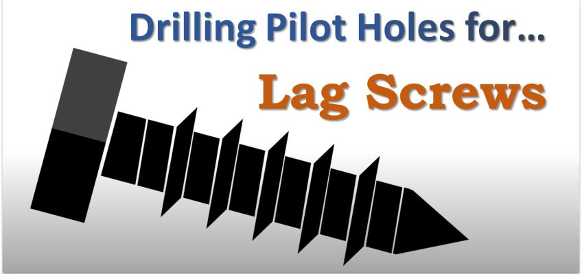Drilling Pilot Holes for Lag Screws in Wood Soft Hard