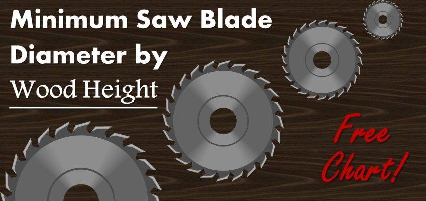 Minimum Saw Blade Diameter by Wood Height Guide