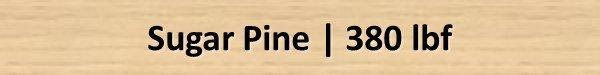 Sugar Pine Janka Hardness Rating