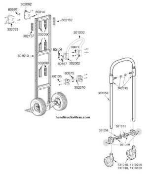 Magliner Gemini Convertible Hand Truck Parts