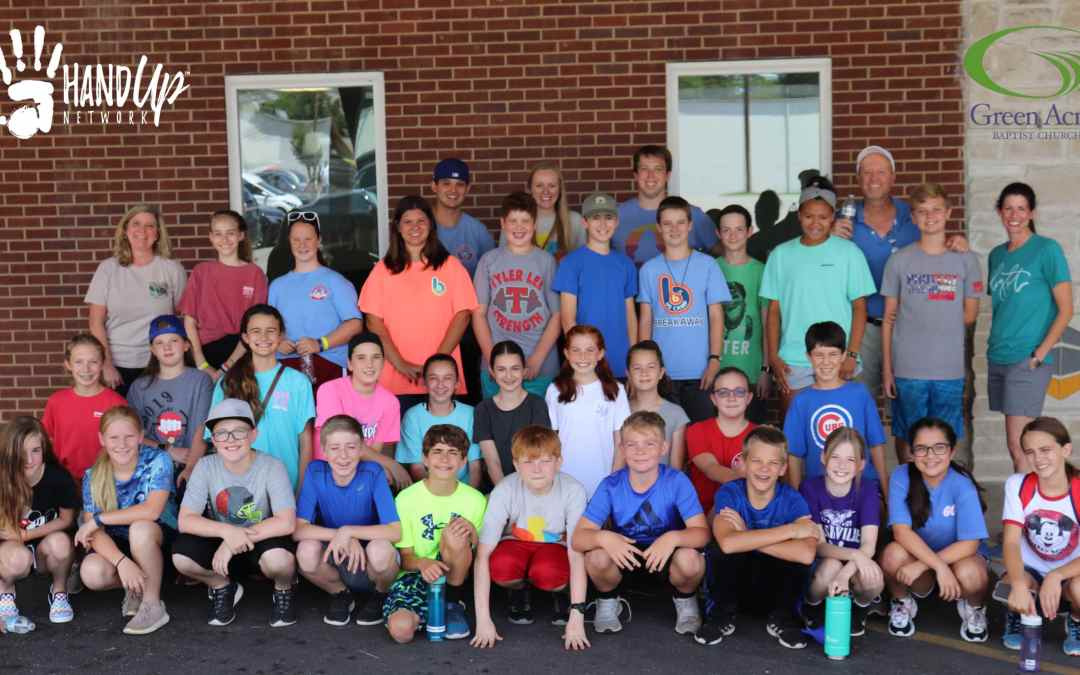 Green Acres Baptist Youth provide a Hand Up!