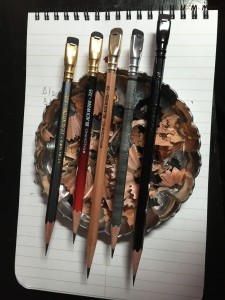 4 Blackwing Volumes pencils and a 602 pencil