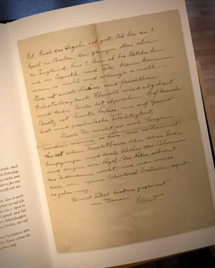 Handschrift von Albert Einstein