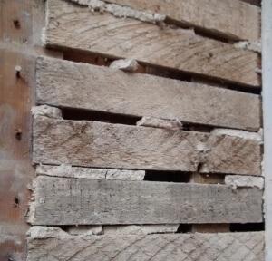 Image depicting broken plaster keys in lath