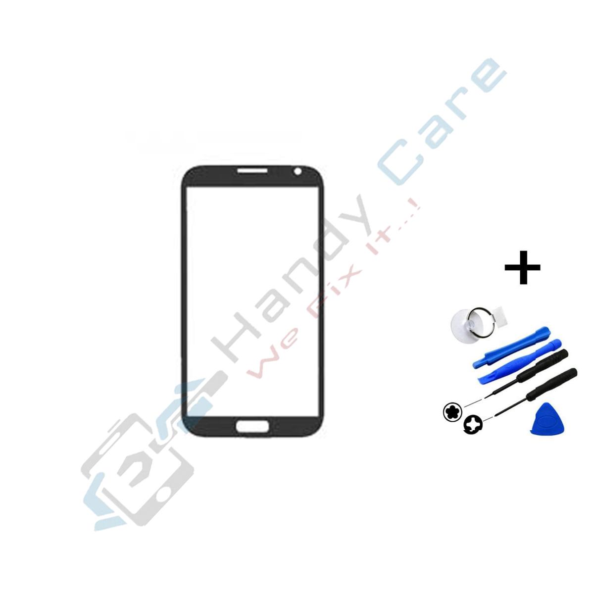 Samsung Note 2 Ersatz Glas Einheit Mit Rahmen Inkl