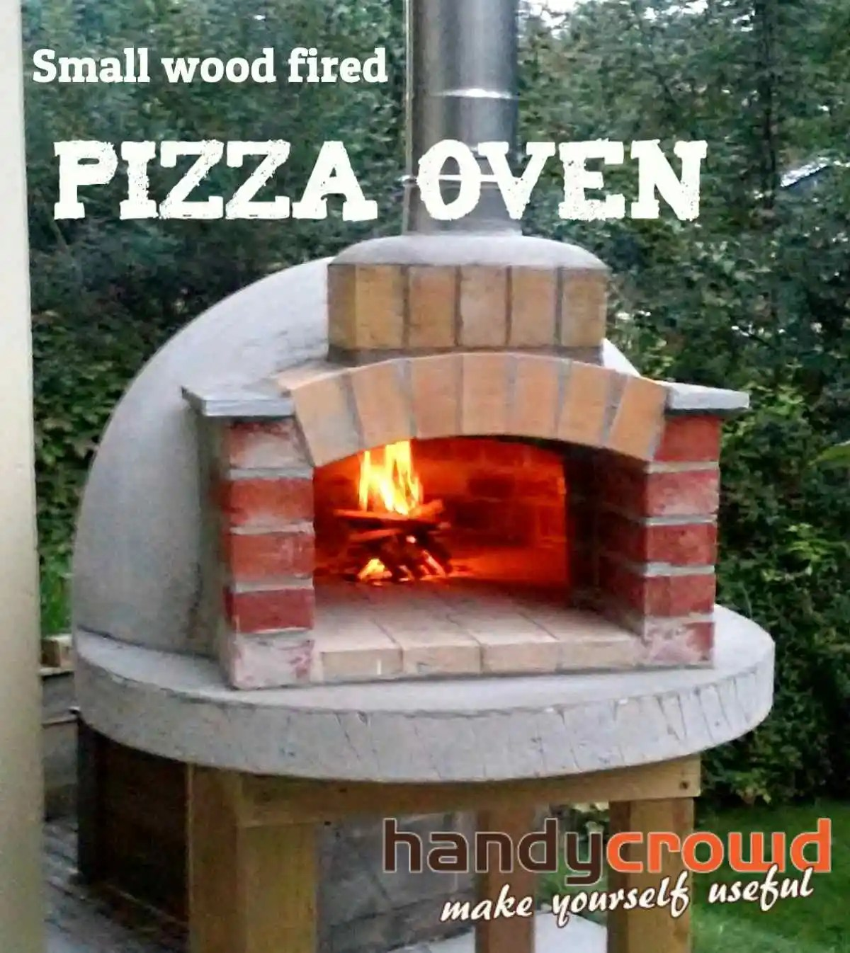 """Building A Backyard Gym: Build Small Wood Fired Pizza Oven 75cm Or 30"""""""