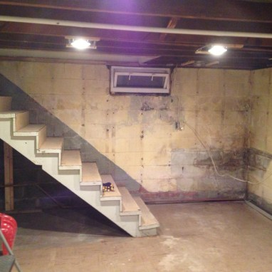 No point in removing the stairs yet... First lets finish the walls.