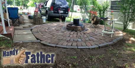 DIY Brick Patio Walkway Fire Pit