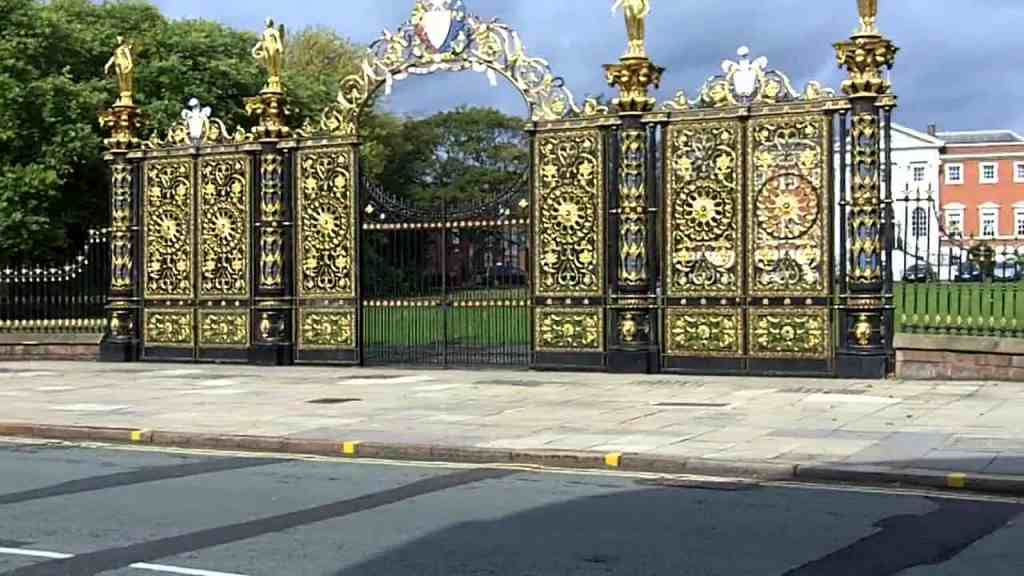 Warrington. A picture of the Golden Gates in Town