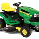 The John Deere LA115 lawn tractor