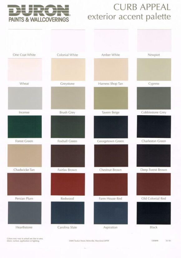 Duron Interior Paint Colors