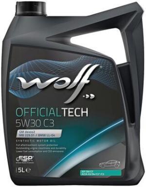 Mootoriõli Wolf Officialtech 5W-30 C3 5L