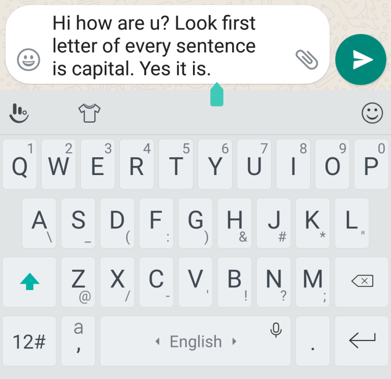 Capitalize First Sentences in EditText in Android
