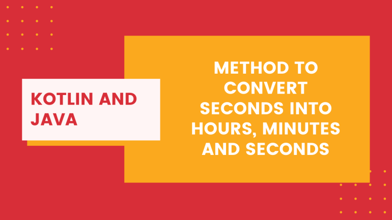 Method to Convert seconds