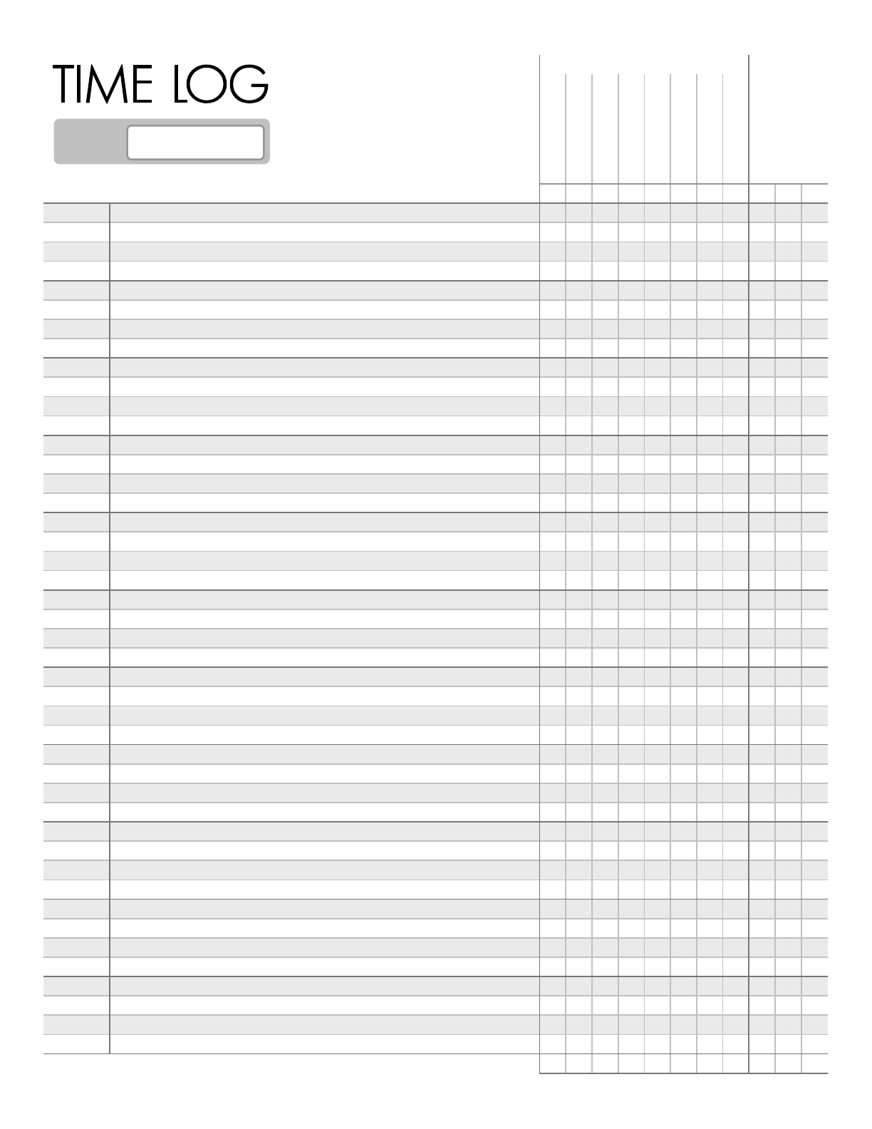 Printable Time Management Worksheets Template