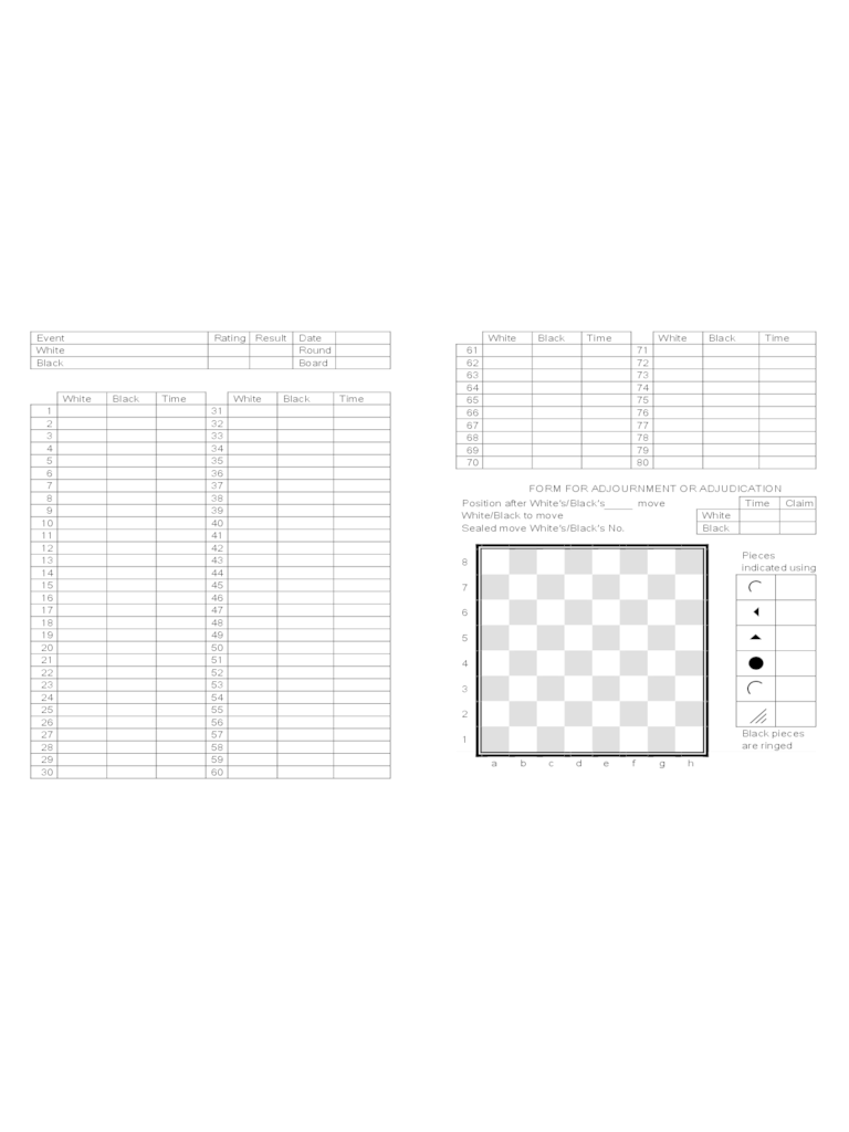 Notation Sheet Pdf Chess