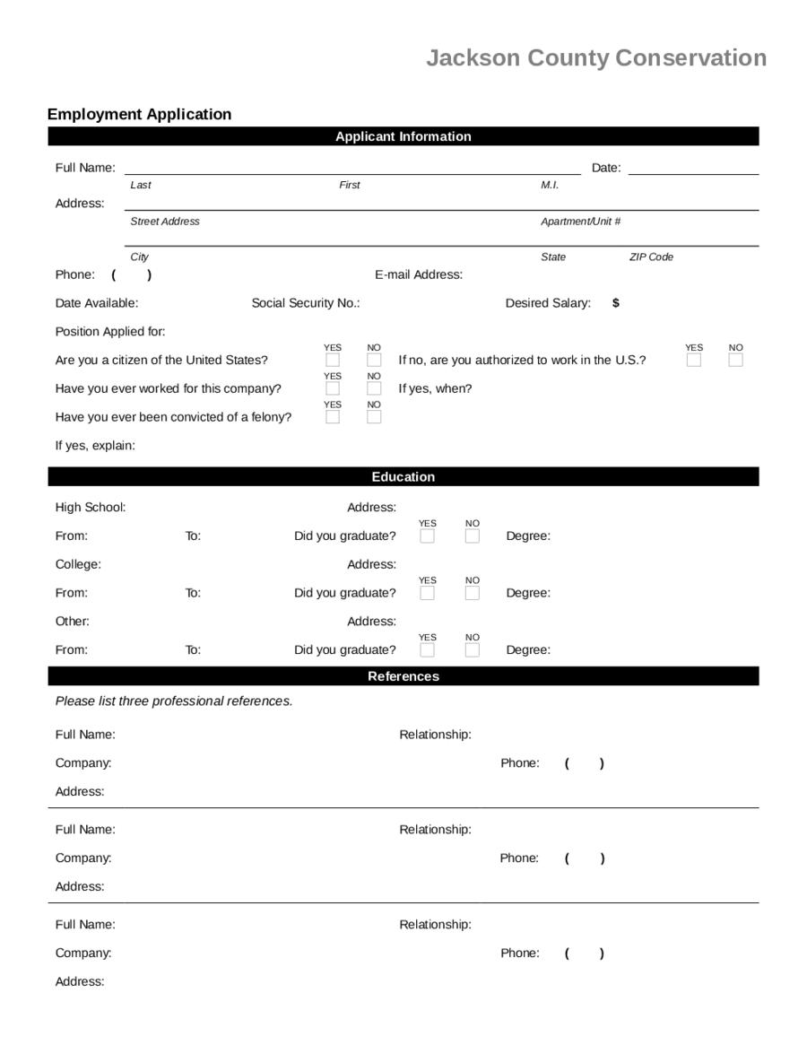 Excel   word   pdf   smartsheet. 2021 Job Application Form Fillable Printable Pdf Forms Handypdf
