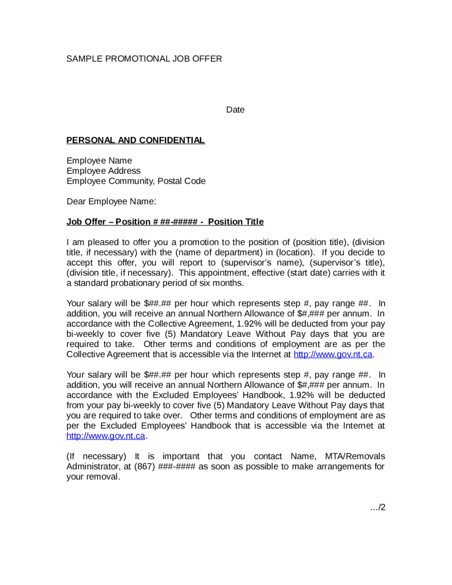 Letter Of Intent For Employment Template   Fieldstation.co  Letter Of Intent For Employment Template