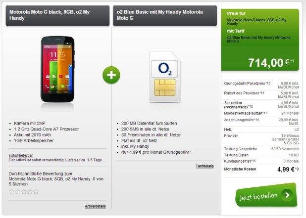 o2 Flat, 50 Min + 200 SMS + Datenflat + Handy nur 4.99€ mtl