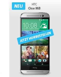 HTC M8 mit AllNet Flat + 1.75 GB Daten 39.99€ mtl