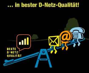 D1: 100 Min + 100 SMS + Datenflat nur 9.99€ mtl