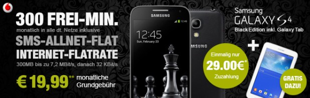 Galaxy S4 black edition + Galaxy Tab 3 19.99€ mtl