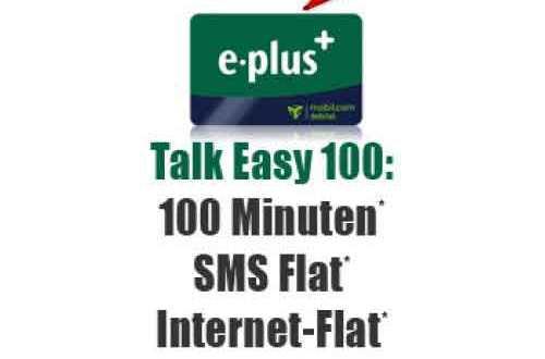 100 Min + SMS-Flat + 500 MB nur 90 Cent mtl