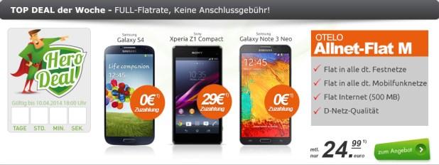 Galaxy Note 3 Neo + AllNet Flat 24.99€ mtl