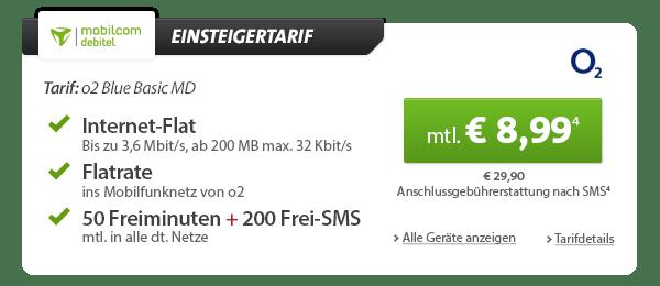 HTC One mini + o2 Flat + 50 Min + Datenflat 8.99€ mtl