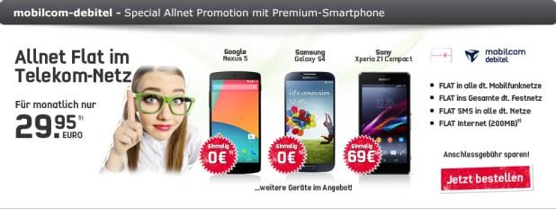Telekom Special Allnet Promotion + Smartphone