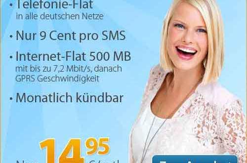Telefonie Flat + Internet Flat 500 MB 14.95€ mtl