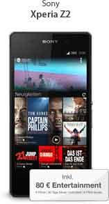 Xperia Z2 + AllNet + 1GB Internet Flatrate 34.99€ mtl