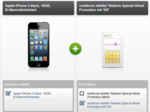 Apple iPhone 5 + Telekom Special Allnet 19.95€