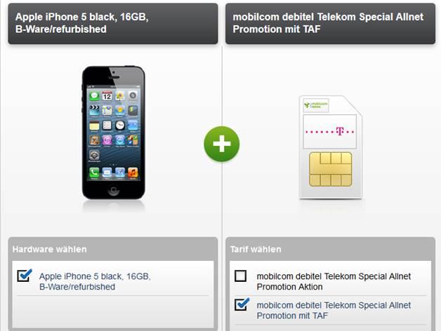 Apple iPhone 5 + Telekom Special Allnet 19.95€
