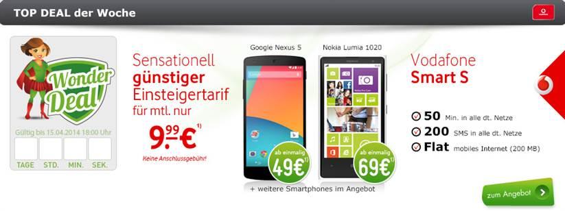 Galaxy S4 Mini black edition + Vodafone Smart S 9.99€ mtl