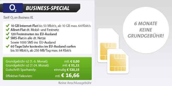 10GB Internet Flat + AllNet Flatrate 16.66€ mtl