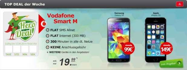 Smart M Vertrag und Galaxy S5 19.99€ mtl