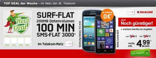 Telekom Talk Easy 100 mit Smartphone 4.99€ mtl