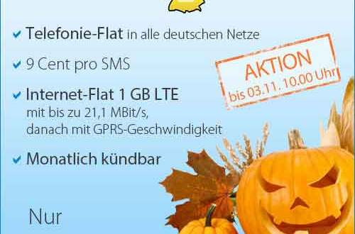 LTE 4G + AllNet Flat -ohne Laufzeit- 14.95€ mtl