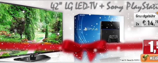 "42"" LED-TV LG + Sony PlayStation 4 nur 29.98€ mtl"