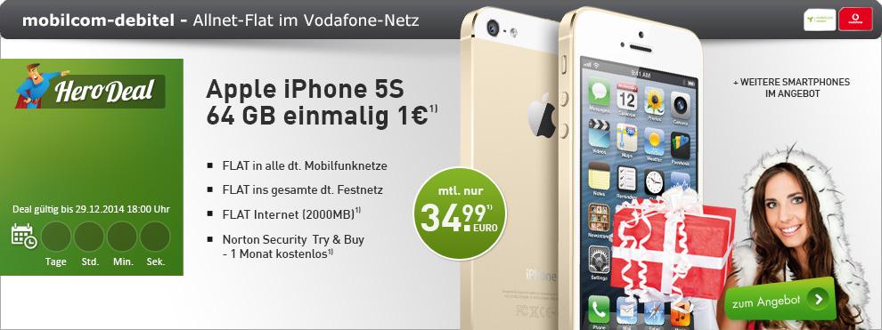 Real Allnet VF + 2 GB Datenflat + Smartphone 34.99€ mtl