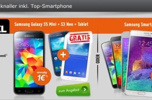 Allnet Flat XL mit Galaxy S5 Mini + S3 Neo + Tablet