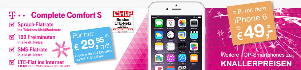 Telekom Comfort S Tarif + iPhone 6