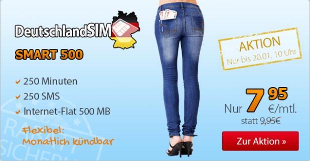 250 Frei-Minuten+ 250 Frei-SMS+ 500 MB -ohne Laufzeit+ 7.95€ mtl.