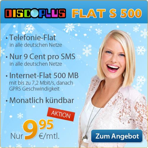 AllNet Flat + Internet Flat -ohne Laufzeit- nur 9.95€ mtl.